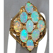 14K Large Opal Cocktail Ring  - 1970's