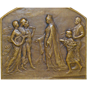 Bronze Medallion, Universal Exposition of Ghent - 1913