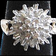 14K w/g Diamond Cocktail Ring - 1980