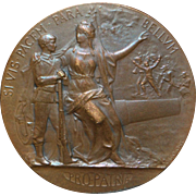 French Art Nouveau Bronze Medal - 1914