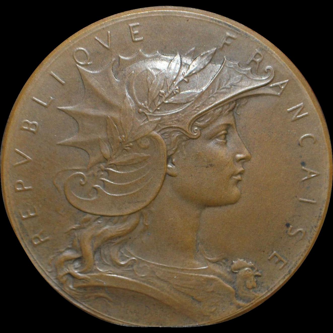 """French Bronze Medal - """"Concours de Tir"""" - 1900"""