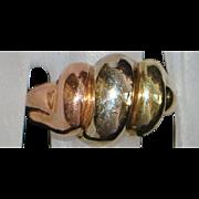 14K Tri-Color Gold Knuckle Ring - 1980