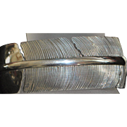 Fine Sterling Silver Feather Form Cuff Bracelet - Inca