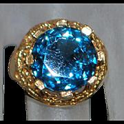 14K London Blue Topaz Ring - 1960's