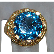 14K London Blue Topaz Ring - 1960's
