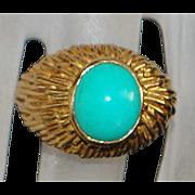 18K Persian Turquoise Ring - Kazan