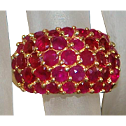 14K Pave Ruby (4 ct) Ring - 1980's