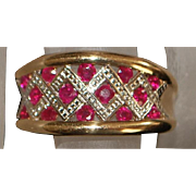 18K Two tone Ruby Ring - 1980's