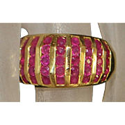 14K Ruby and Gold Dome Ring - 1980