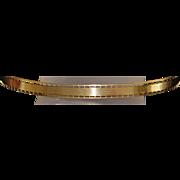 14K Retro Oval Gold Bangle - 1940's