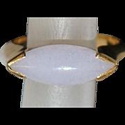 14K Lavender Jade Modernist Ring - 1970's