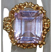 14K Custom 8ct Kunzite Ring - 1970
