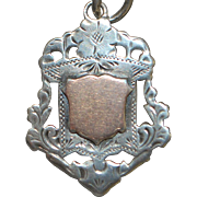 English Fancy Sterling Silver Watch Fob - 1924