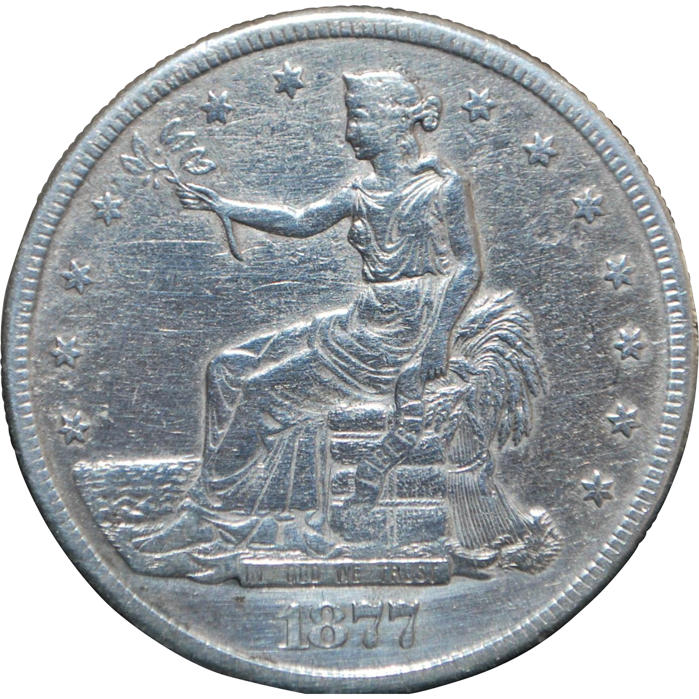 United States Silver Trade Dollar - 1877 - S