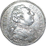 French Silver Louis XVI Jeton - 1780's