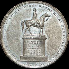 London Royal Exchange and Wellington Statue Token - 1844