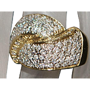 Fine 18K Pave Diamond (2ct) Ring - 1980's