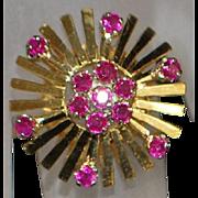 18k Retro Ruby Ring - 1970