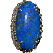 14K Large Custom Made Lapis Lazuli Ring - 1950's