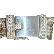 Heavy Sterling Silver Braided Buckle Bracelet