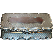 Fancy English Sterling Silver Snuff Box - 1859