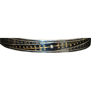 Austrian 900 Silver Fancy Niello Bangle Bracelet - 1870