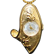 Swiss Lady's Fancy Pendant  Watch - 1970's