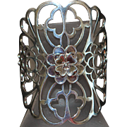 Large Sterling Silver Italian Floral Cuff Bracelet