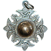 Irish Sterling Silver Soccer Pendant - 1954