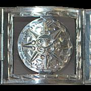 Heavy Mexican Sterling Silver Bracelet - 1970