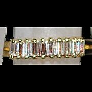 14k Diamond Baguette Wedding Band - 1980's