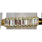 14k Diamond Baguette Wedding Band - 1980's