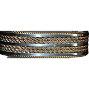 Navajo Sterling Silver and Gold Fill Cuff Bangle - TAHE