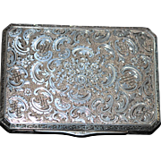 Czech 900 Silver Engraved Box - 1920's