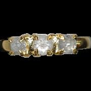 18K Rose Cut Diamond Ring - 1920