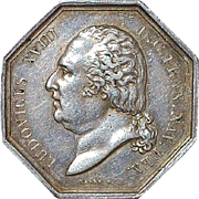 French Silver Octagonal Jeton - 1818 - Type 2