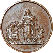 French Bronze to the Poor - 1866