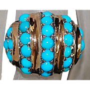 14K r/g Persian Turquoise Dome Ring - 1960