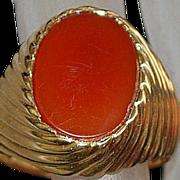 14K Man's Italian Signet Ring - 1960's