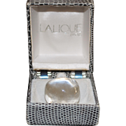 Lalique Large Clear Crystal Dome Ring with Box