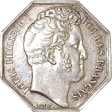 French Silver Louis Philippe I Gaming Jeton - 1830's
