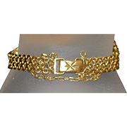 21K yellow gold Line Bracelet - 1980's