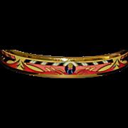 Hermes Paris Austrian Enamel Bangle Bracelet