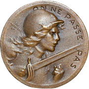"French Bronze Medal""Battle of Verdun"" - 1916"