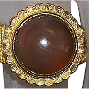 18K Chrysoberyl and Diamond Ring - 1910