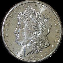 U. S. Morgan Silver Dollar - 1880 - S - UNC