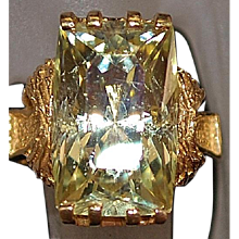 14K Oro Verde Quartz Ring - 1970's