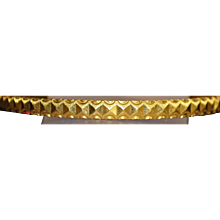 22K Solid Gold Bangle Bracelet - 1980's