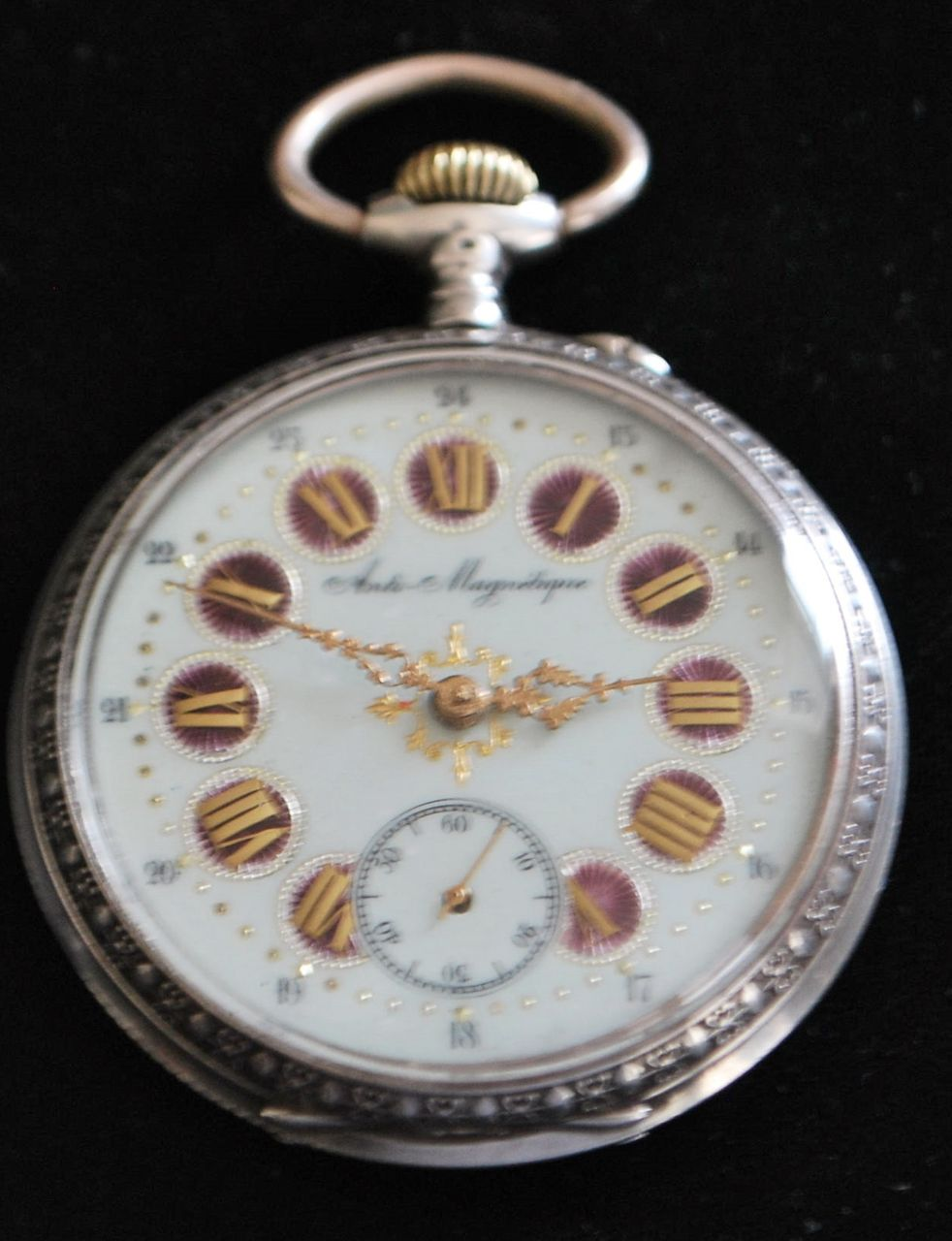 Large Fancy Swiss 800 Silver OF Pocket Watch, c. 1885