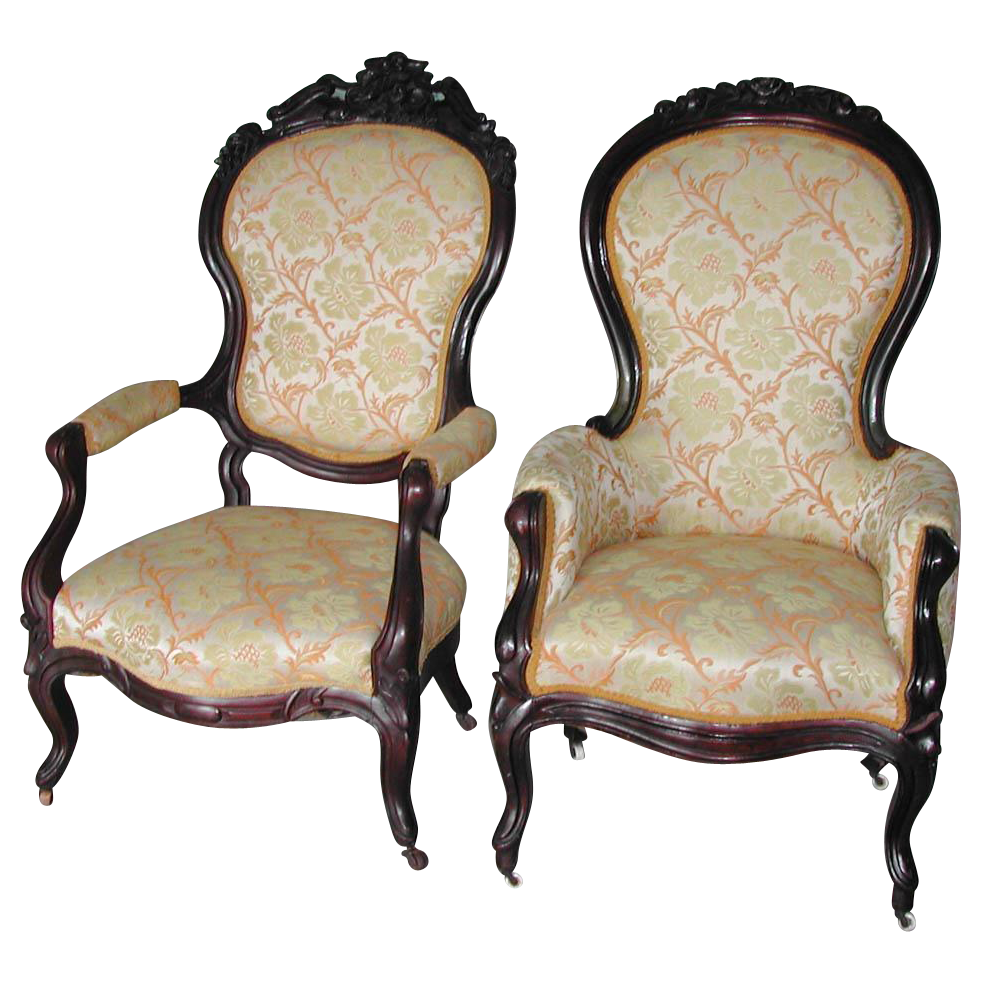 Lovely Victorian Rosewood Chairs - Lovely Victorian Rosewood Chairs SOLD On Ruby Lane